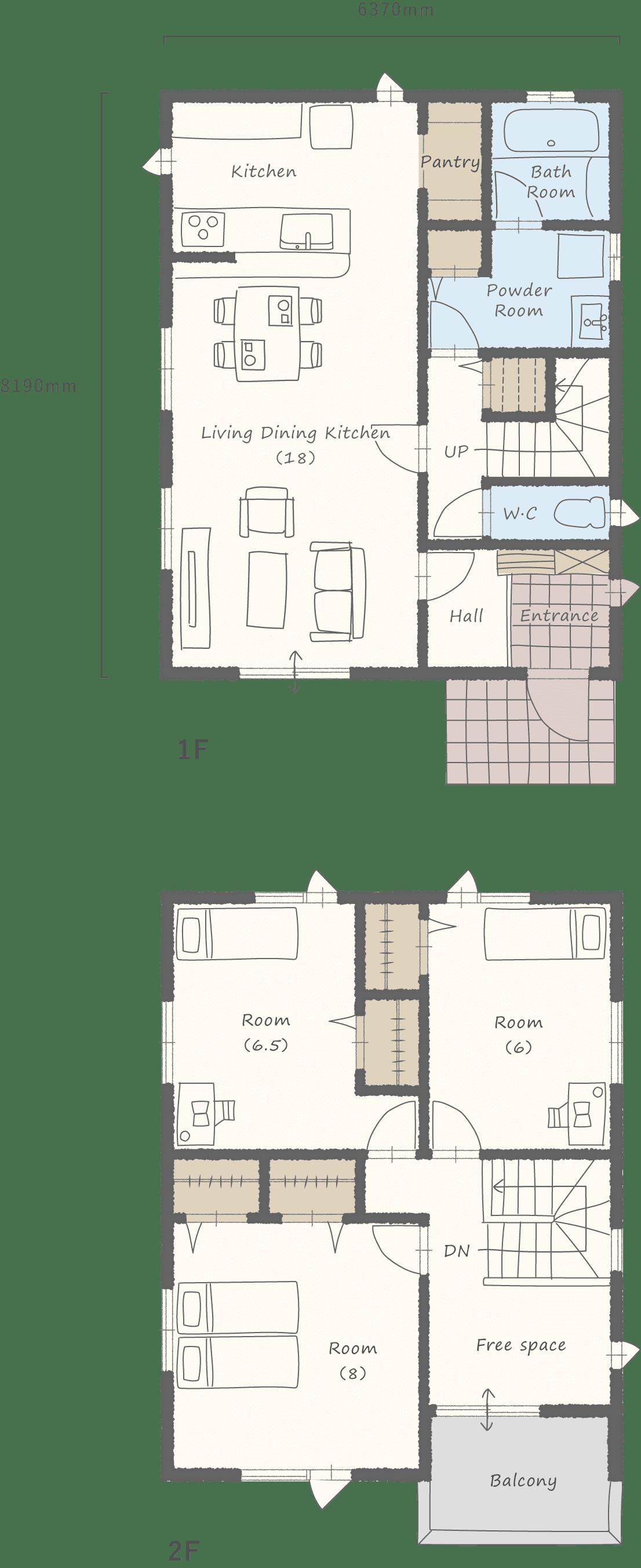 家事楽プランの見取り図